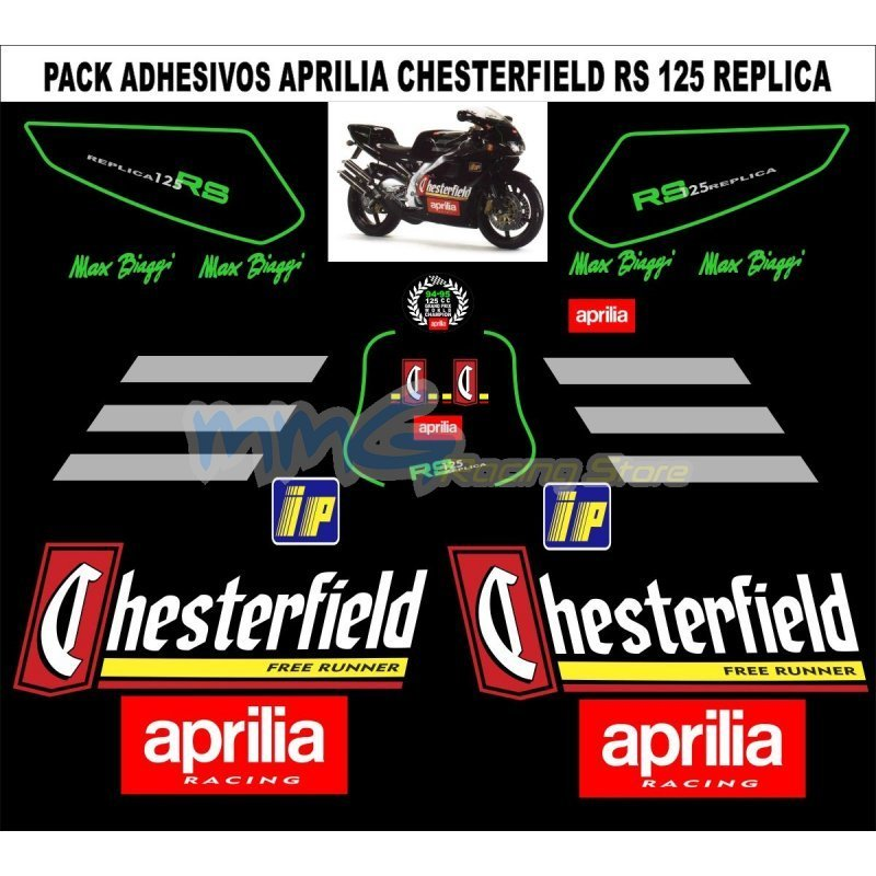 Aprilia Rs125 Chesterfield Decal Set