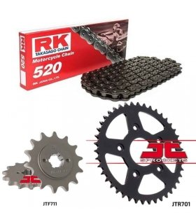 Chain And Sprocket Kit CAGIVA MITO 125 RK 520M BLACK