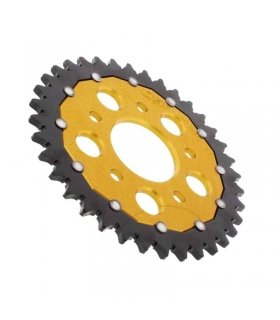 REAR SPROCKET DUAL 36T 520 GOLD ZF HONDA NSR125 / CRM 125