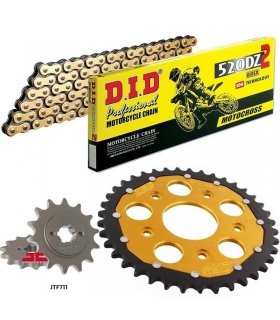 Chain And Sprocket Kit CAGIVA MITO 125 ZFSPROCKETS DID 520DZ2 GOLD