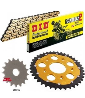 Chain And Sprocket Kit APRILIA RS125 (94-05) ZFSPROCKETS DID 520DZ2 GOLD