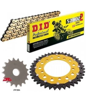 KIT TRANSMISION APRILIA RS125 (06-13) ZFSPROCKETS DID 520DZ2 DORADA