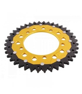 REAR SPROCKET DUAL 40T 520 GOLD ZF APRILIA RS125 (06-03)