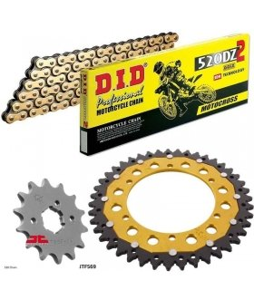 Chain And Sprocket Kit YAMAHA RD350 ZFSPROCKETS DID 520DZ2 GOLD