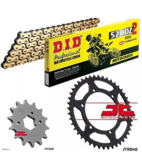 Chain And Sprocket Kit YAMAHA RD350 DID 520DZ2 GOLD