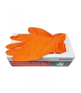 GUANTES DESECHABLES WURTH NITRILO EXTRA NARANJA