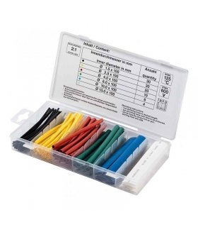HEAT SHRINK TUBING SET COLOURED 100 PARTS