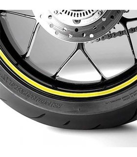 ITR Wheel sticker yellow fluor