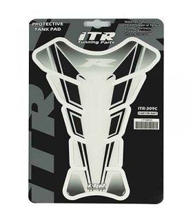 "ITR Protective tank pad ""R"" clear and black"