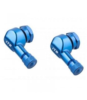 90 Degree Angle Wheel Tire Stem BLUE ITR