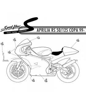 CUPULA SPEED FIBER COPA APRILIA RS50 / RS125 99-05 TRANSPARENTE