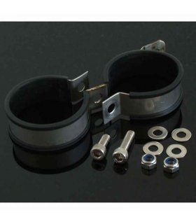 Silencer clamp double 60mm (double bolt)