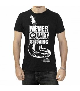 "CAMISETA TYGA ""NEVER QUIT SMOKING"" BLACK, TALLAS: S - XXL"