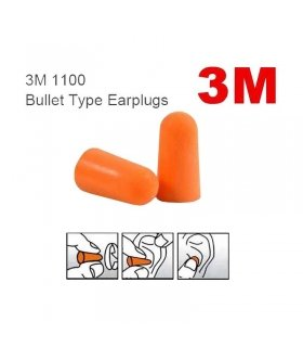 3M EAR PLUGS SNR 37db DISPENSER BOX 200 PAIRS