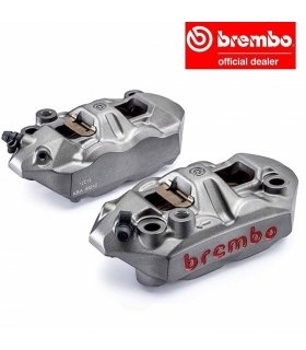 Brembo Racing M4 108 pair of cast monoblock 108mm pitch radial calipers (SX+DX) with brake pads