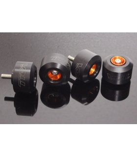 Axle Slider Kit, (Orange/Black) KTM RC and Duke Series