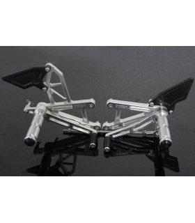 TYGA Racing step kit CNC silver, Yamaha R25 / R3