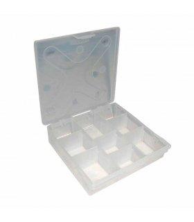 Caja de 15 compartimentos ,transparente (180mm x 100mm x 30mm)