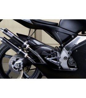 TYGA Racing step kit CNC silver, Aprilia RS250