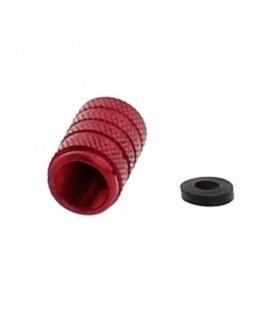Aluminium valve cap red