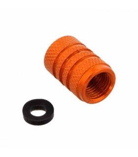 Aluminium valve cap orange