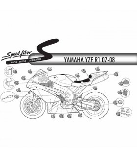 Carenado Speed Fiber Yamaha YZF-R1 07-08