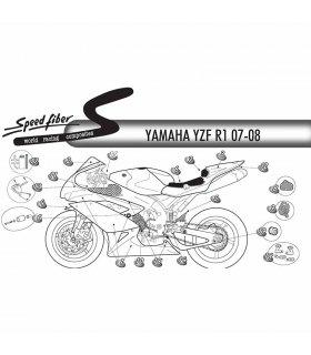 Colin Speed Fiber Yamaha YZF-R1 07-08