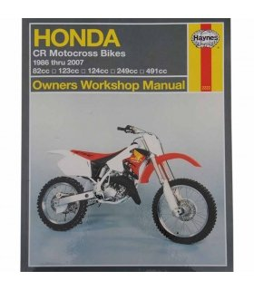 Haynes repair manual Honda CR80/125/250/500 86-07