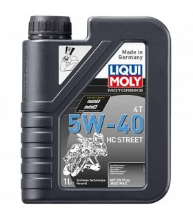 Aceite Liqui Moly sintetico 5W40 HC Street 1L