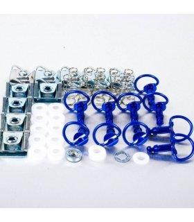 PRO-BOLT ALUMINIUM BLUE QUICK RELEASE/CLIP3 D-RING 19MM QRPACKSLIDE19B