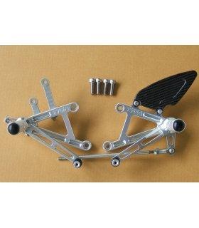 TYGA Racing step kit CNC silver, CBR250 2011 - CBR300 2014