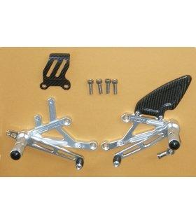 TYGA Racing step kit CNC silver, Suzuki RGV 250 VJ22