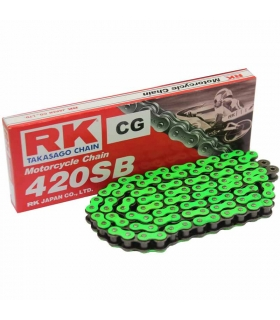 Cadena RK420SB reforzada 136 eslabones - Verde