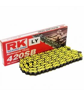 Cadena RK420SB reforzada 136 eslabones - Amarillo neón