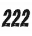 Números Vinilo Blackbird Nº 2 Negro (15x7 cm)