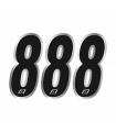 Números Vinilo Blackbird Nº 8 Negro (15x7 cm)