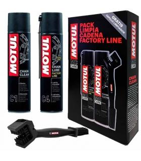 Pack Limpia Cadena Motul Factory Line (C4+C1+Cepillo)