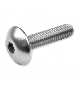 Aluminum Silver Screws M6 20mm. 6 Units