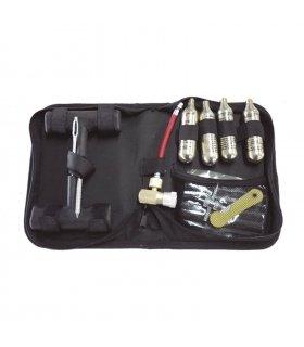 Kit de reparación de neumaticos portatil con bombonas