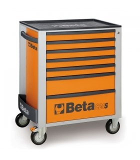 Beta C24S 7/O Mobile Roller Cab with 7-Drawers - Orange
