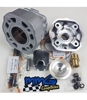 CYLINDER with HEAD DERBI EURO2 D47,6 80cc (14mm pin) ITALKIT - GILARDONI