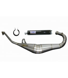 EXHAUST SET STAINLESS STEEL CAGIVA MITO 125 TYGA WITH CARBON SILENCER