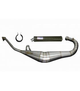 EXHAUST SET STAINLESS STEEL CAGIVA MITO 125 TYGA WITH KEVLAR SILENCER