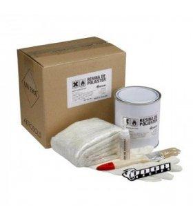 Kit fibra de vidrio VOCA Style, incluye fibra, resina, activador, pincel y guantes