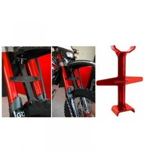 Red Tie Down Support Brace Motorcycle Fork Block for Transporting Bikes SHORT