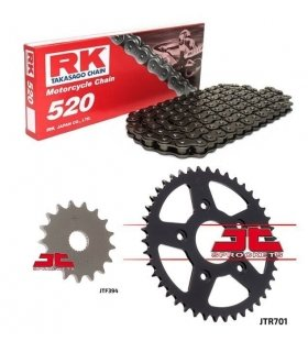 Chain And Sprocket Kit APRILIA RS125 (93-05) RK 520M BLACK