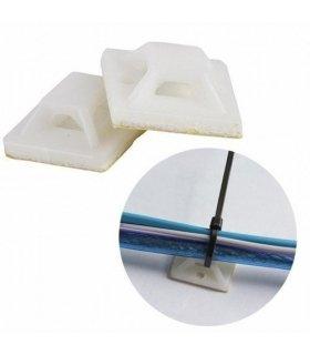 Base adhesiva para bridas. 10 unidades
