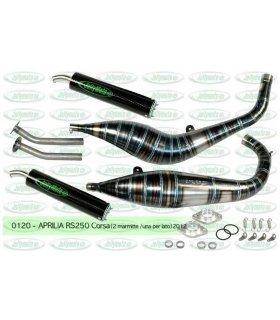 APRILIA RS250 JOLLYMOTO CORSA EXHAUST SET W/ CARBON SILENCERS