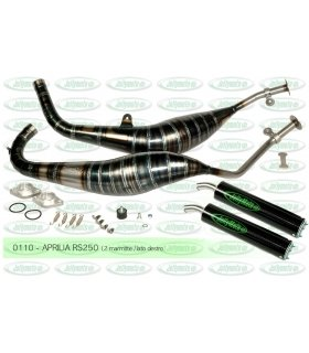 APRILIA RS250 JOLLYMOTO EXHAUST SET W/ CARBON SILENCERS