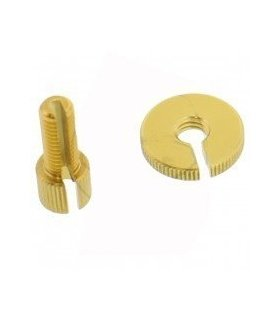 CABLE ADJUSTER M8 ALU GOLD